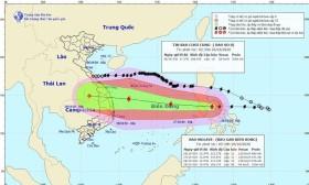 Bão số 9 giật cấp 15 đi vào biển Đông gây sóng to, gió lớn