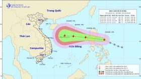 Khoảng đêm nay (20/10) đến sáng sớm 21/10, bão số 8 sẽ đi vào biển Đông