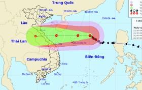 Bão số 8 hướng vào các tỉnh Hà Tĩnh - Quảng Trị, cảnh báo mưa dông, gió mạnh trên biển