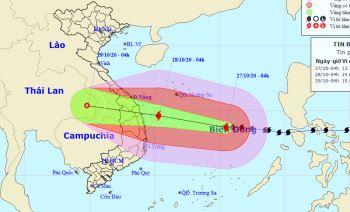 Bão số 9 tiếp tục tăng cấp, nhiều nơi ở miền Trung mưa lớn từ hôm nay