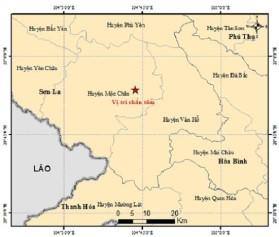 Ngày 17.8, Mộc Châu bị động đất mạnh 4,2 độ richter