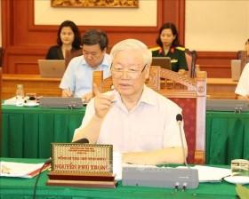 Tổng bí thư Nguyễn Phú Trọng: Quân đội phải luôn là hình ảnh đẹp trong lòng dân