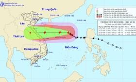 Cập nhật tình hình cơn bão số 8: Giật cấp 15, hướng thẳng vào Bắc Trung bộ