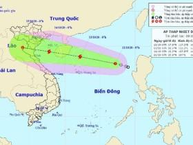 Diễn biến mới của áp thấp nhiệt đới sắp mạnh thành bão trên Biển Đông