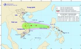Áp thấp nhiệt đới dự kiến mạnh thành bão số 8 đổ bộ miền Trung vào cuối tuần này