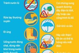 Graphic Bộ Y tế hướng dẫn phòng chống dịch bệnh mùa mưa bão