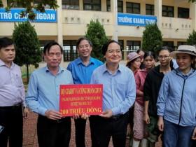 Công đoàn Giáo dục Việt Nam tiếp tục kêu gọi hỗ trợ đồng bào miền Trung