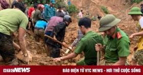 Ảnh: Công an băng rừng, bới đất tìm 4 người bị vùi lấp