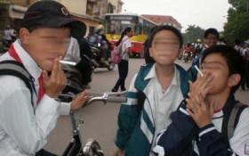Công an quận Hoàng Mai thông báo ngăn chặn hiện tượng học sinh mua kẹo thuốc lá