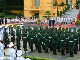Toàn cảnh lễ đón chính thức Thủ tướng Nhật Bản Suga Yoshihide và phu nhân tại Phủ Chủ tịch