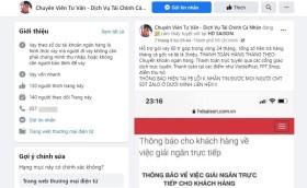 Nóng lòng vay qua Facebook, bị lừa sạch tiền trong tài khoản