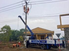 PC Quảng Nam đóng điện công trình chống quá tải lưới điện KV Núi Thành năm 2020