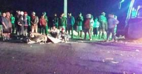 Lao thẳng vào xe khách, 2 thanh niên tử vong