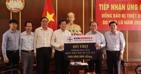 EVNGENCO 2 trao 1 tỷ đồng hỗ trợ tỉnh Quảng Nam và Quảng Trị khắc phục hậu quả mưa lũ