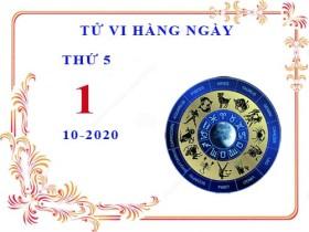 Xem tử vi ngày 1/10/2020 thứ 5 của 12 cung hoàng đạo chi tiết nhất