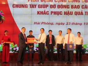 Hải Phòng: Kêu gọi doanh nghiệp ủng hộ gần 90 tỷ đồng cho các tỉnh miền Trung